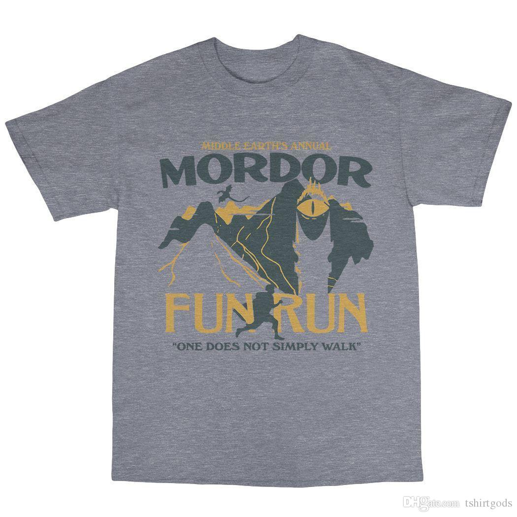 6911cce45 Mordor Middle Earth Fun Run T Shirt Cotton Tolkien Shirt Designer  Customised T Shirts From Tshirtgods, $10.59  DHgate.Com
