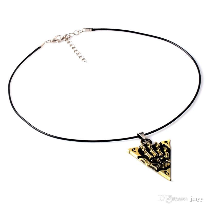 Hot Game The Elder Scrolls OL Necklaces & Keychain Alloy Bronze Car Key Chain Jewelry For Gift