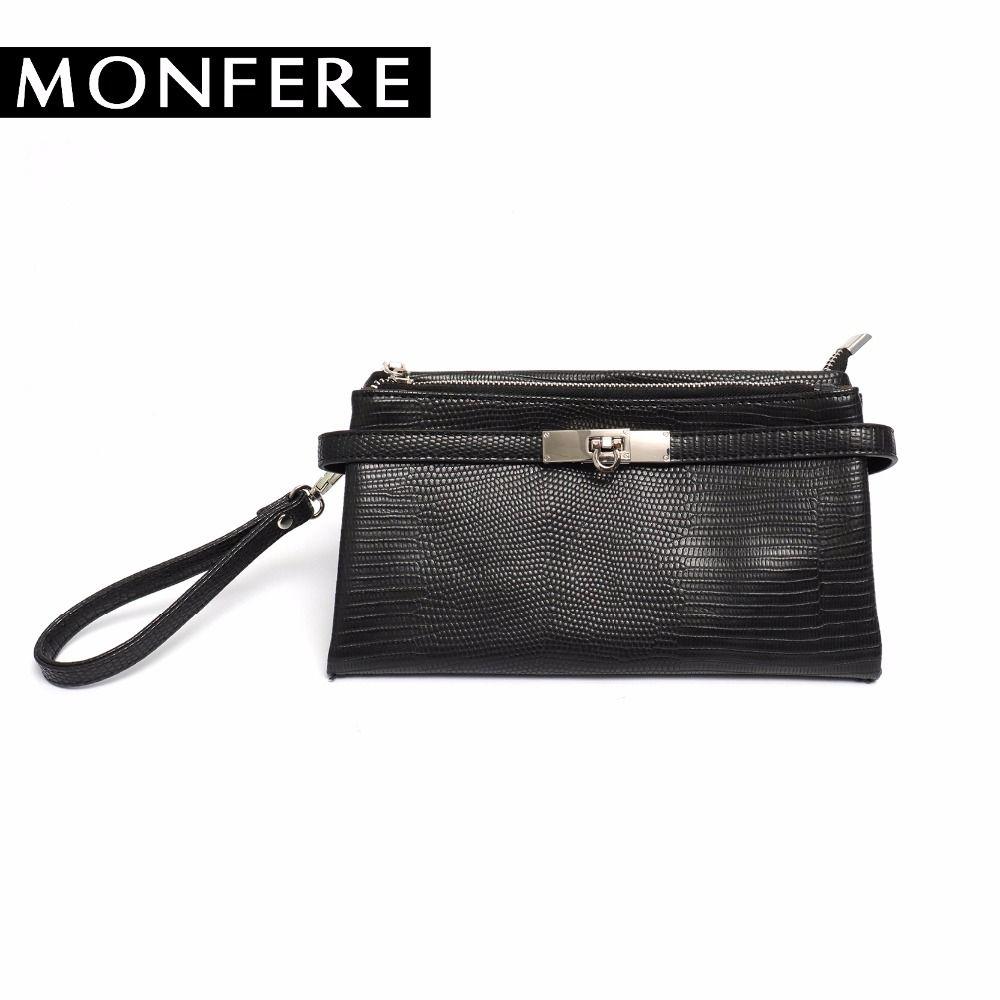 MONFER Fashion Day Clutches Women Evening Envelope Clutch Bag Purse Snake Print  Faux Leather Lock Zipper Crossbody Bag Wristlets Clutch Purse Cheap Designer  ... de781616cbd50