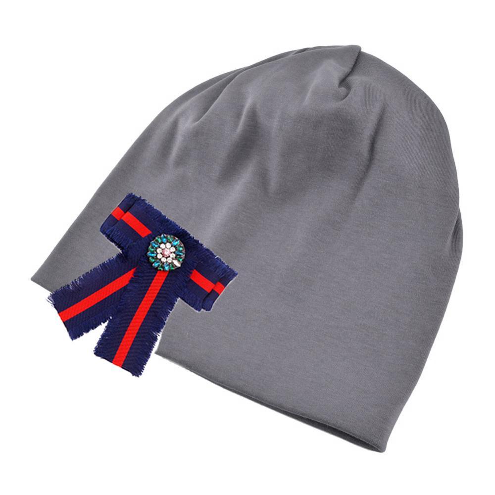 a9f9fd77256 Women s Beanie Hat Autumn Warm Plain Cotton Slouchy Beanie for Female  Spring DIY Bow Tie Balavaca Skullies Banies Skullies   Beanies Cheap  Skullies ...