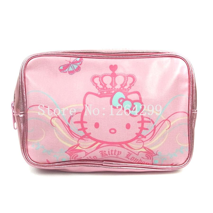 6eeae3b90b 2019 New Fashion Hello Kitty Girls Woman PU Cosmetic Bags Cases For  Children From Heheda3