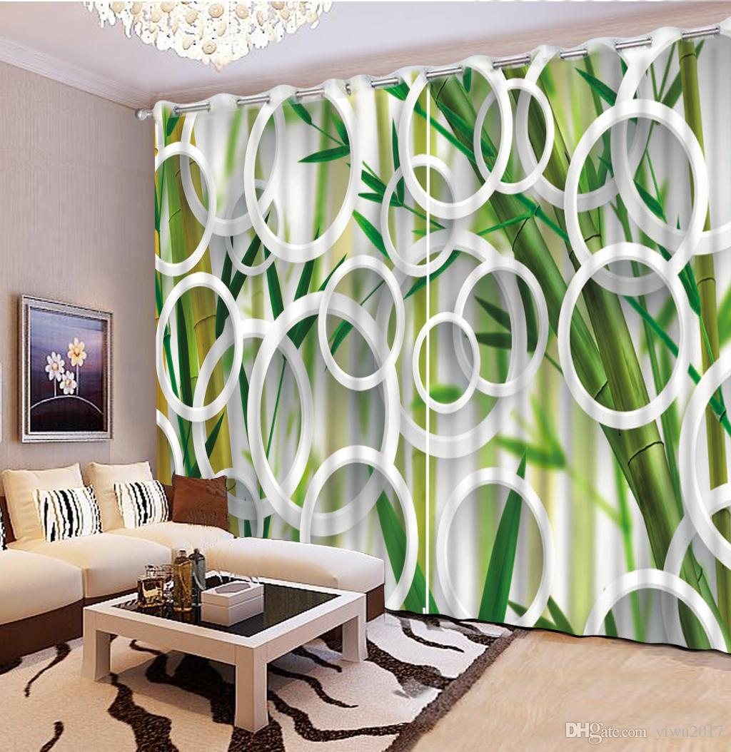 custom 3d curtains Creative circle green curtains window curtains for  living room luxurious modern bedroom curtain