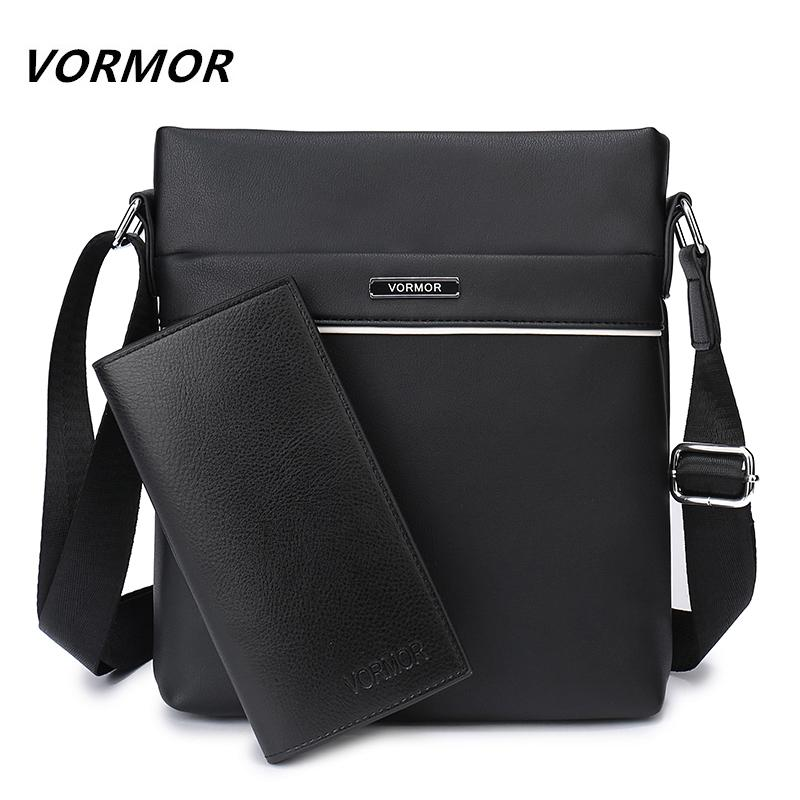 VORMOR Famous Brand Casual Men Bag Business Leather Men Messenger ... efa3e49170