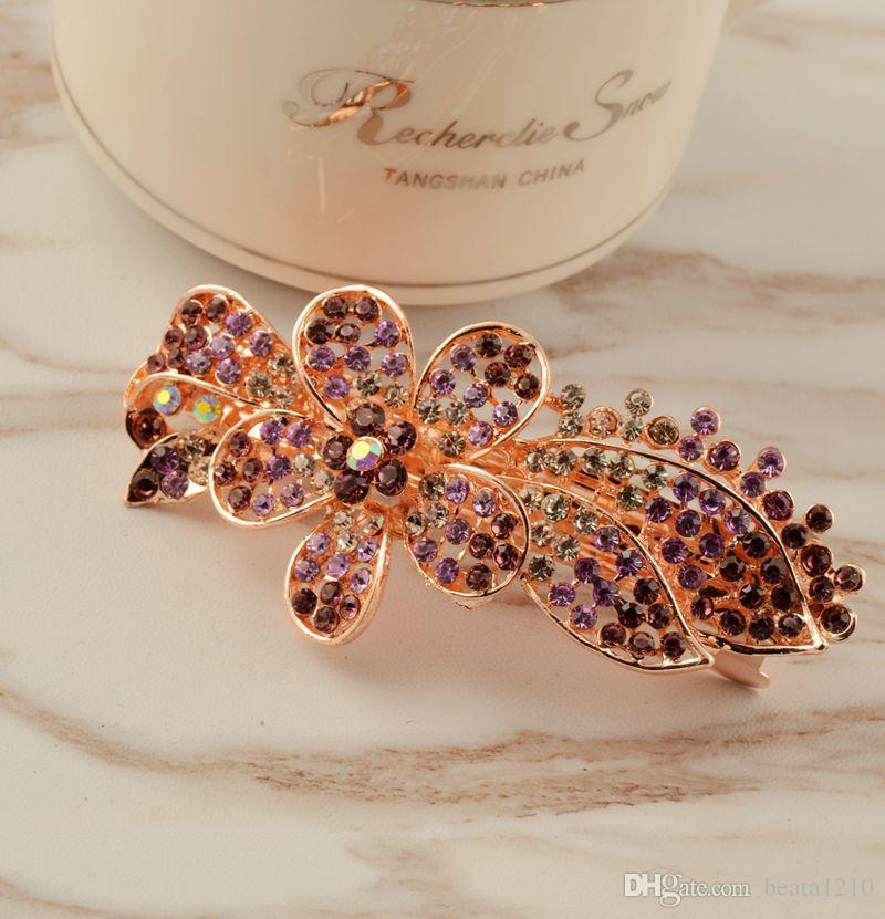 Fashion Hair Clips for Women Gifls Rhinestone Jewelry Stores 2018 Hot Barrettes Korean Style Hair Accessories Head Wrap Mix Wholesale