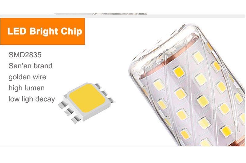 LED Corn Lamp LED Candle Bulb AC220-240V 8W 12W 16W Energy saving lamp Energy Saving Bulb Warm white Cold white