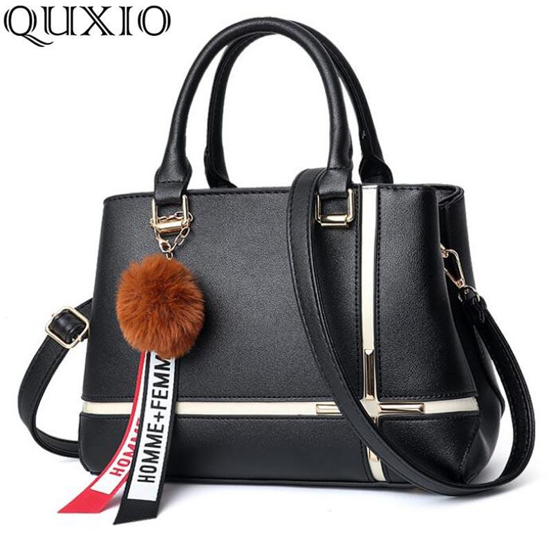 614e3f315920 2018 Autumn And Winter New Style Fashion Trend Simple Panelled Large  Capacity PU Leather Handbag Shoulder Bag Commuter Bag CZ128 Crossbody  Purses Ladies ...