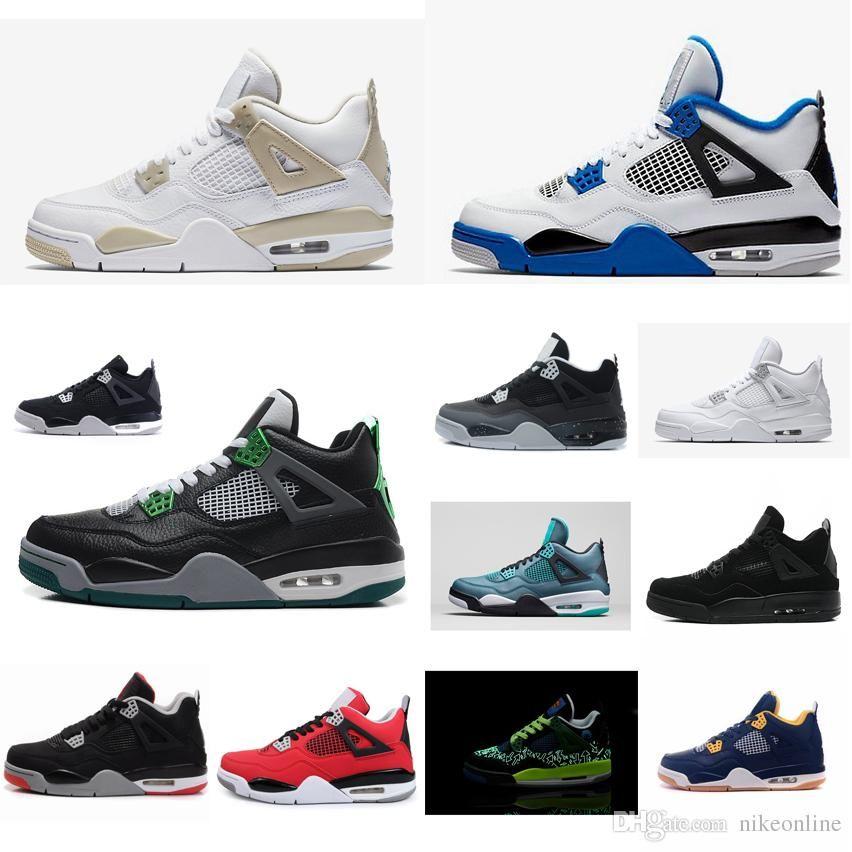 4d19907a764f Cheap New Mens Jumpman 4 Basketball Shoes 4s Black Cat Bulls Oregon Ducks  Aj4 Air Flights Sneakers Boots J4 with Original Box Wholesale 4s Shoes J4  ...