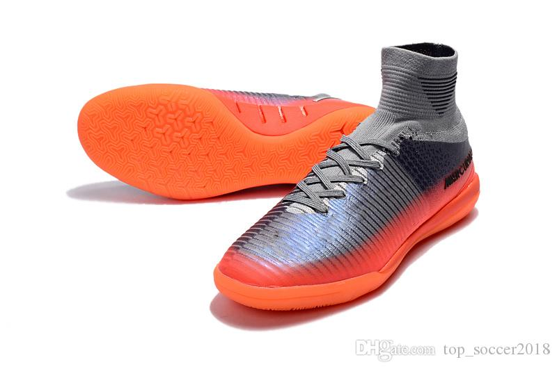 2018 Original Grey Orange CR7 Soccer Cleats Mercurial Superfly V TF IC  Indoor Kid Soccer Shoes Cristiano Ronaldo Football Boots Canada 2019 From  ... bd4b565d63fbe
