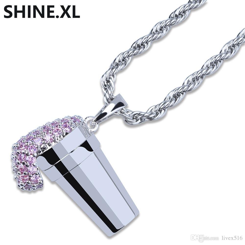 Wholesale Hip Hop Ice Cream Necklace Pendant Gold Silver Color Plated Iced  Out Charms For Men Women Pendant Necklaces Diamond Pendant From Livex516 7472c3cc3