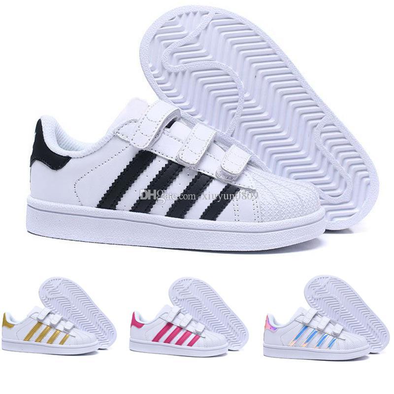 buy online af3ca 4745a Acheter Didas Superstar Marque Enfants Superstar Chaussures Original Blanc  Or Bébé Enfants Superstars Sneakers Originals Super Star Filles Garçons  Sports ...