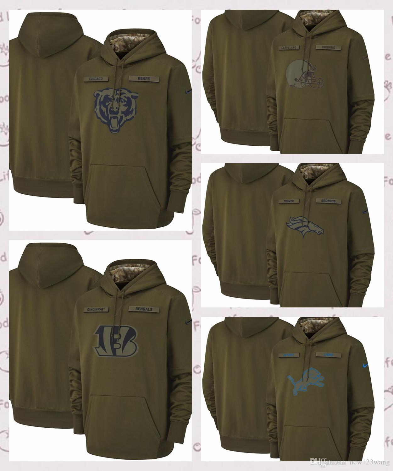 new product 127f1 8eafb chicago bears salute to service hoodie