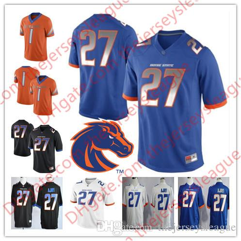 purchase cheap 70f48 af678 Custom Boise State Broncos White Orange Black Blue Personalized Stitched  Any Name Any Number #27 Jay Ajayi NCAA College Jerseys S-3XL