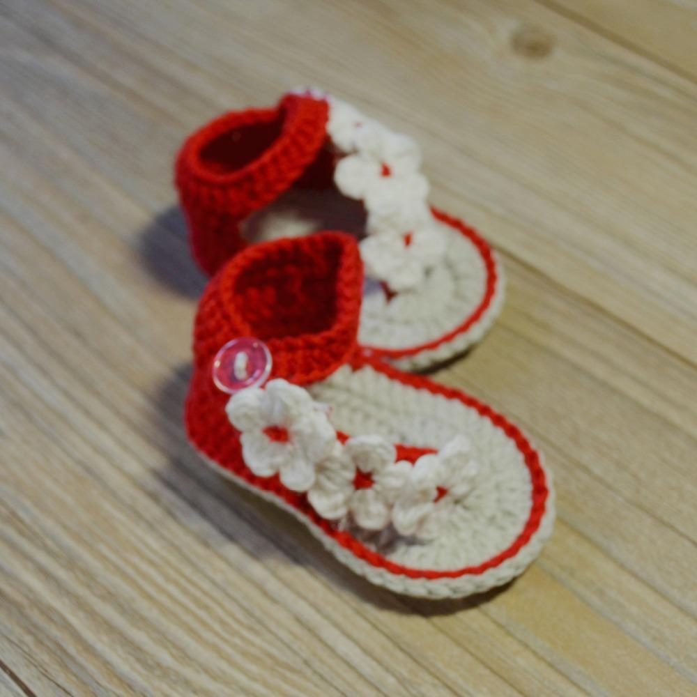 QYFLYXUE Handmade Baby Shoes Rose Flower Infant Girl Crochet Toddler Shoes  Newborn Crochet Knit Baby Sandals Photography Props S Kid Boots On Sale  Cute Kid ...