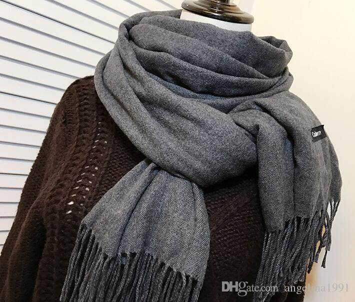 New Brand Scarf Winter Women Scarf Female Solid Scarf Best Quality Cotton Studios Tassels Women Wraps