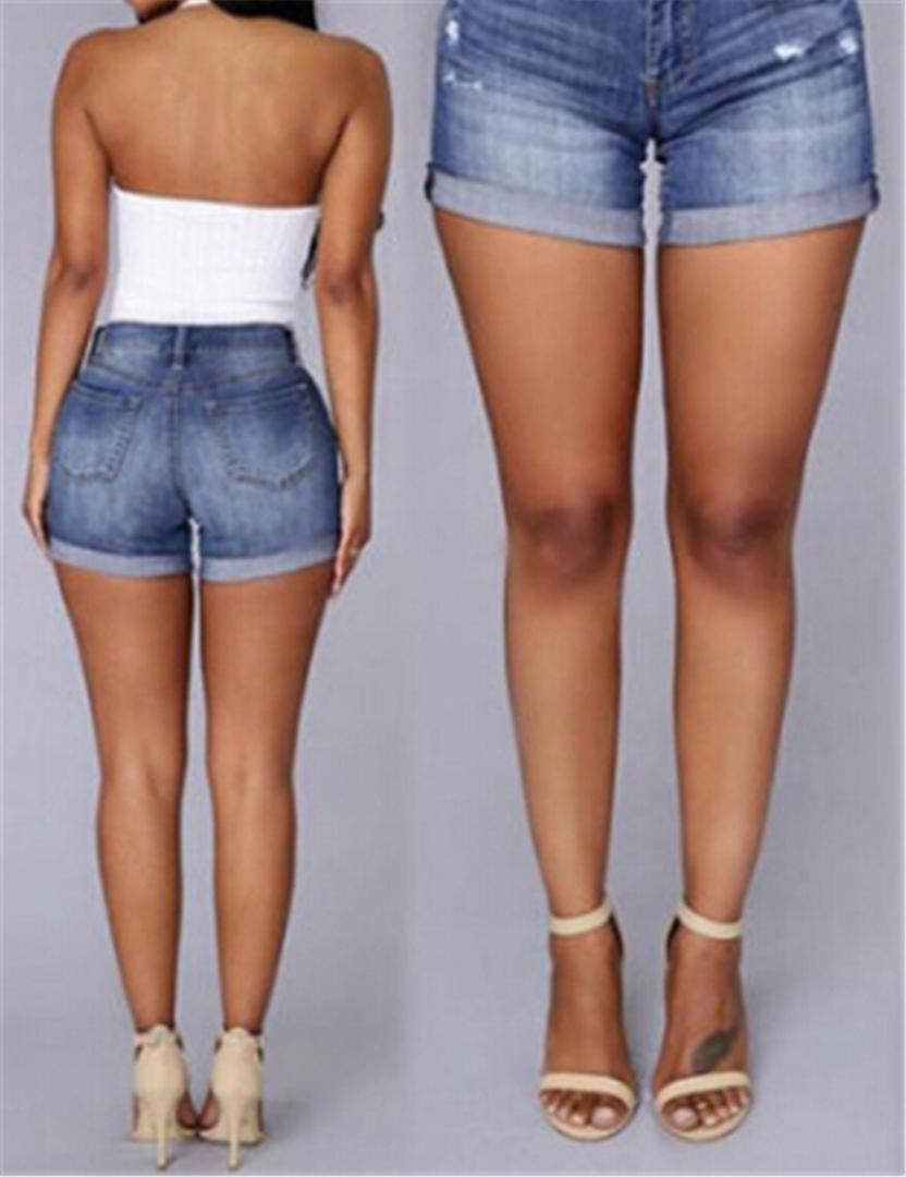 0399ebe24124d 2019 Vintage Turn Up Cuff Denim Thong Shorts Women Sexy Pocket Jeans Shorts  2018 Summer Girl Hot Denim Booty Short From Sadlyric