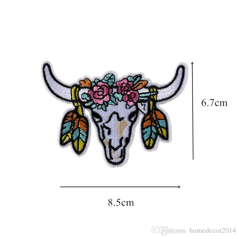 Embroidered Bull Cow Patches Ox Neat Bossy Sewing Iron On Badge For Bag Jeans Hat Appliques DIY Sticker Decoration Apparel Accessories