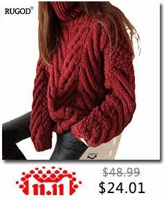 Rugod 2017 Nuove donne maglione pullover O collo manica lunga maglia maglioni di cachemire solido maglione caldo maglione maglione di Natale