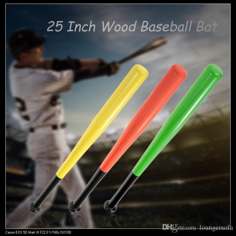 25 Inch Wood Baseball Bat Self Defense Car Softball Stick High Strength Anti Wear Sports Exercise Supplies Top Quality 16cc B