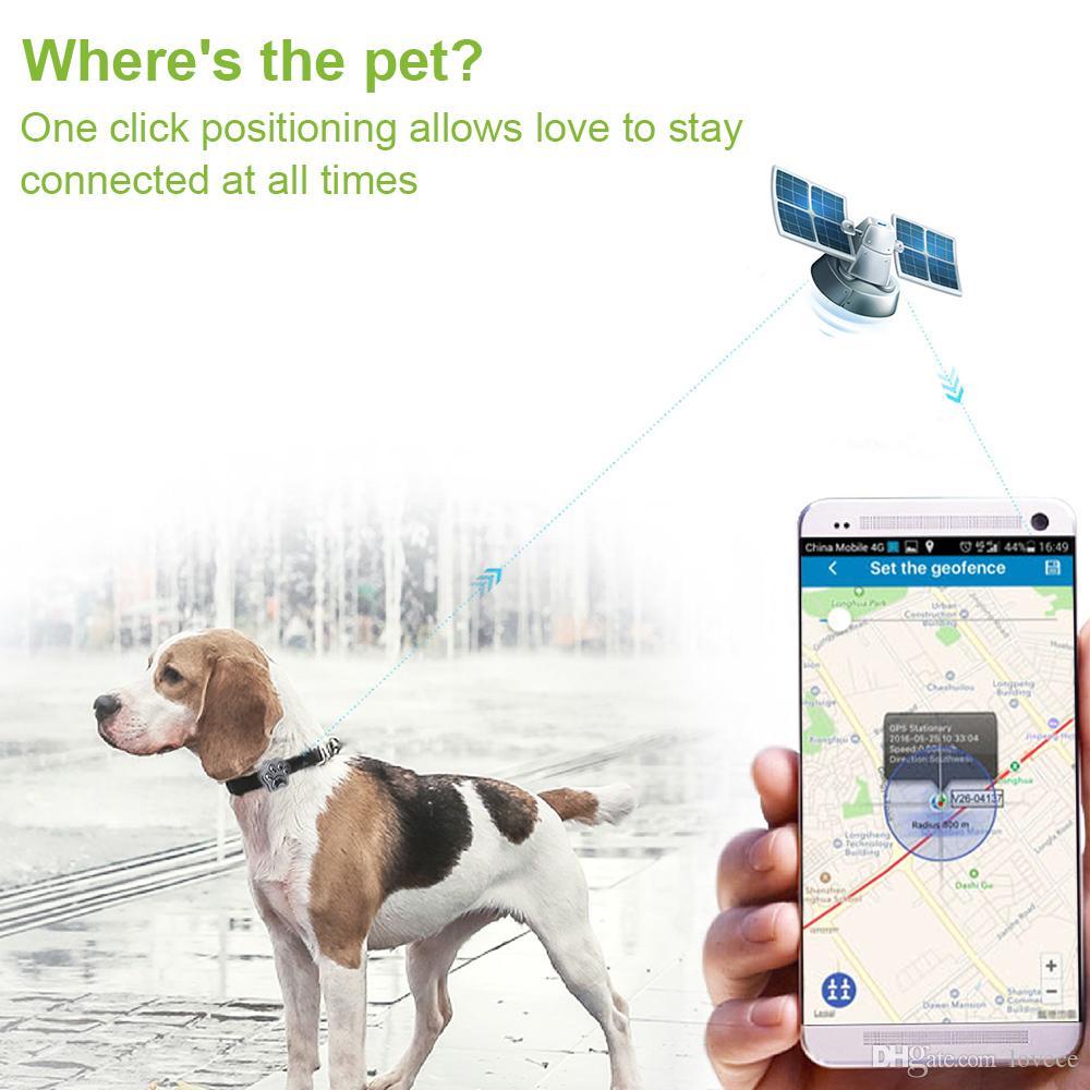Домашние животные локатор мини водонепроницаемый GPS трекер собака кошка расположение поддержка GSM GPRS телефон в режиме реального времени отслеживания сигнализации с беспроводное зарядное устройство SAM_30E
