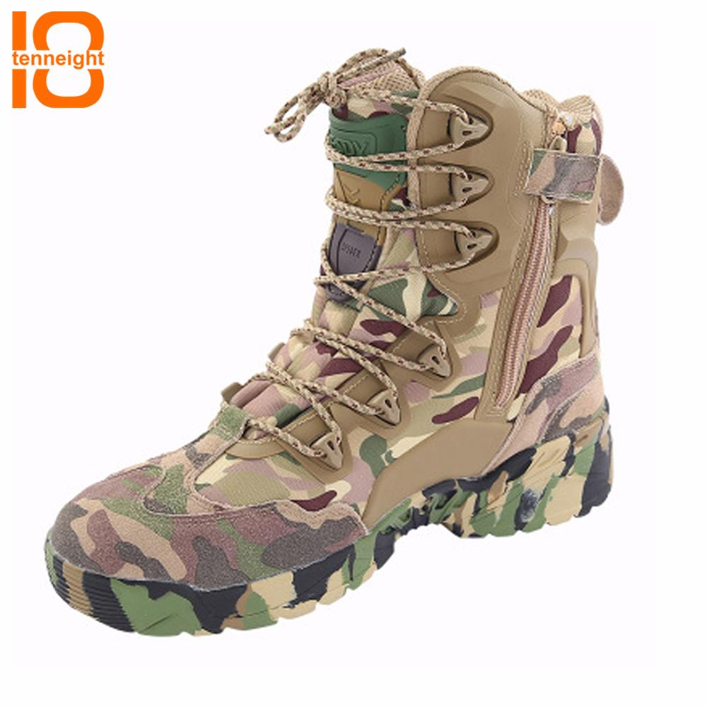 2cc2510835bf1 Acheter TENNEIGHT Outdoor Desert Chasse Tactique Bottes Hommes Bottes  Camouflage Escalade Sportive Chaussures Randonnée Chaussures De Voyage De  $149.71 Du ...