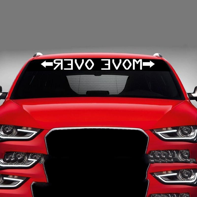 Bewegen Sie Sich über Verspiegelte Auto Aufkleber Aufkleber Windschutzscheibe Banner Jdm Racing 4x4 Lkw Suvs Fenster Auto Styling Vinyl Aufkleber