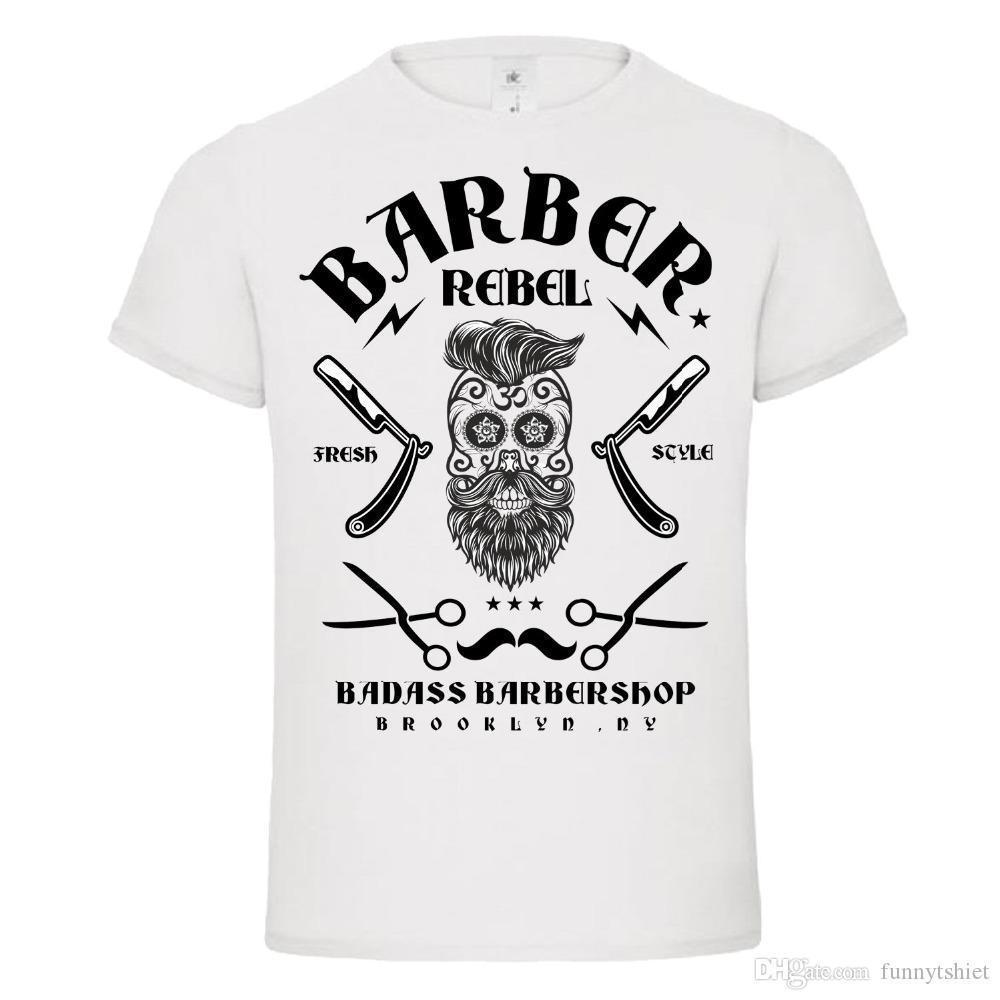 d3e84a86 T Shirt Fashion BADASS BARBER REBEL 2 Skull Moustache Tattoo T Shirt Dtg  NEW DESIGN T Shirt Hip Hop Tees Tee Shirts Online Shopping T Shirts Shop  Online ...