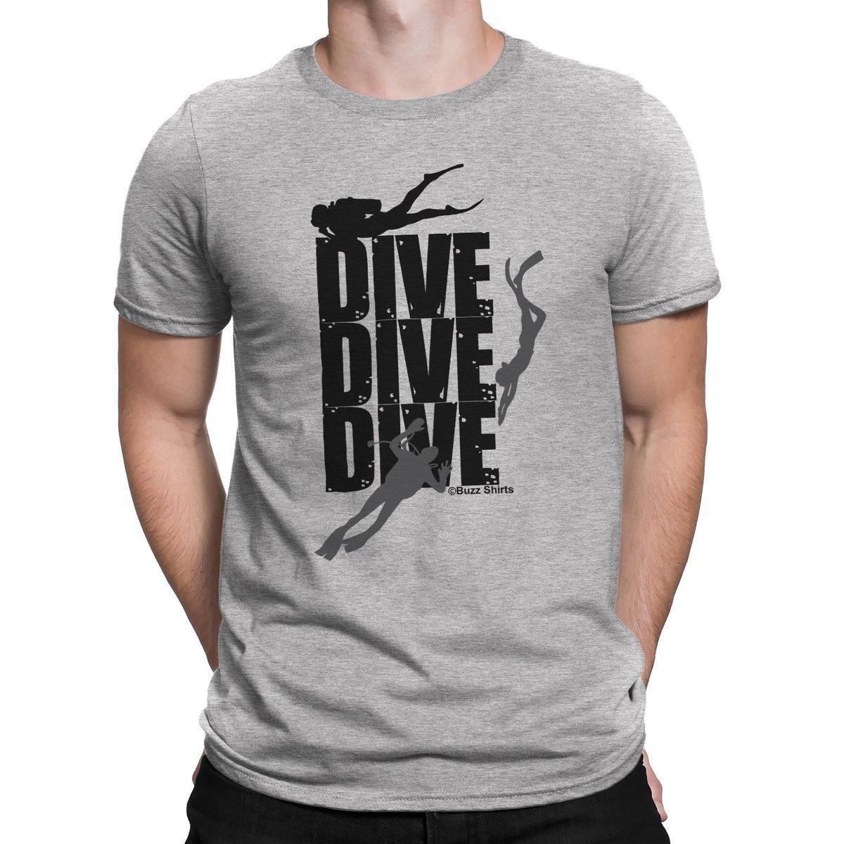 b3c71e045f28d Acheter Plongée Plongée Hommes Scuba Diver T Shirt Sous Marine Loisirs Shirt  Coton Hight Qualité Homme T Shirt Nouveau 2018 Drôle De $12.08 Du Amesion50  ...