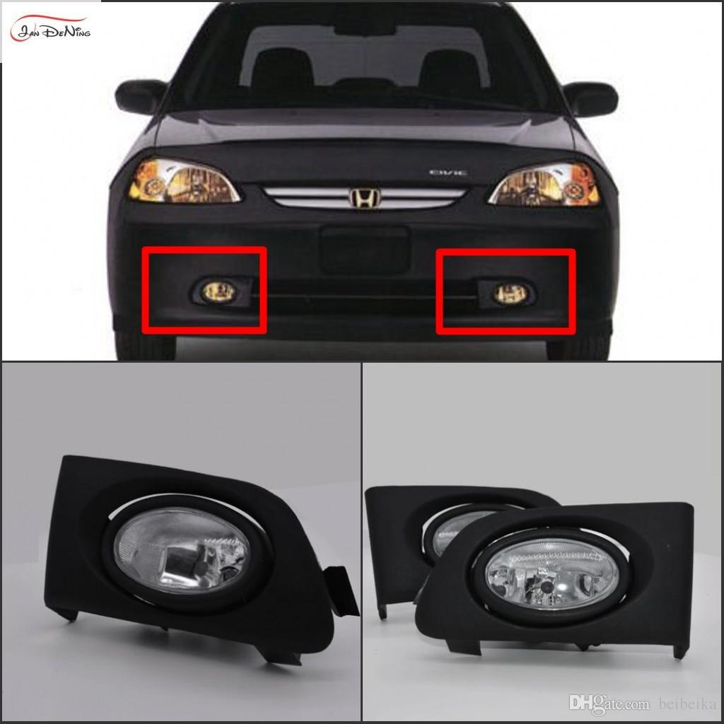 Car Fog Lights For Honda Civic 2/4dr 2001~2003 Clear Halogen Bulb:H11 12v  55w Front Fog Lights Bumper Lamps Kit Cheap Driving Lights Cheap Driving  Lights ...