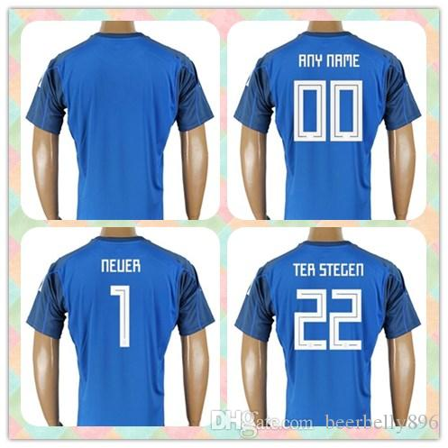 44c1d0c0092 ... goalkeeper jersey d7e30 767cd new zealand customized thai 2018 world  cup country jersey germany 1 neuer 22 ter stegen blue ...