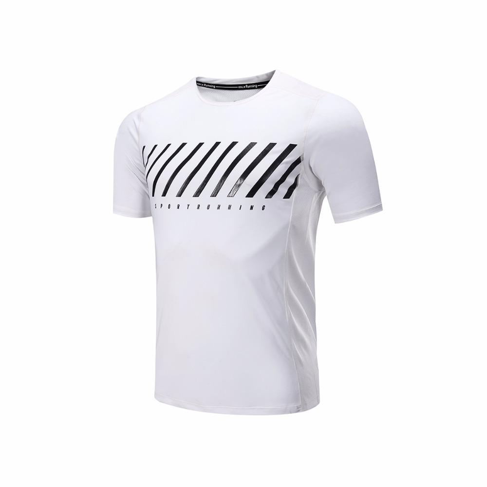 4f2427ba308e3 2019 Men S Running T Shirts Anti Sweat Breathable Clothing High Elastic  Quick Dry Short Sleeve Sports Basketball Fitness T Shirts From Hcaihong