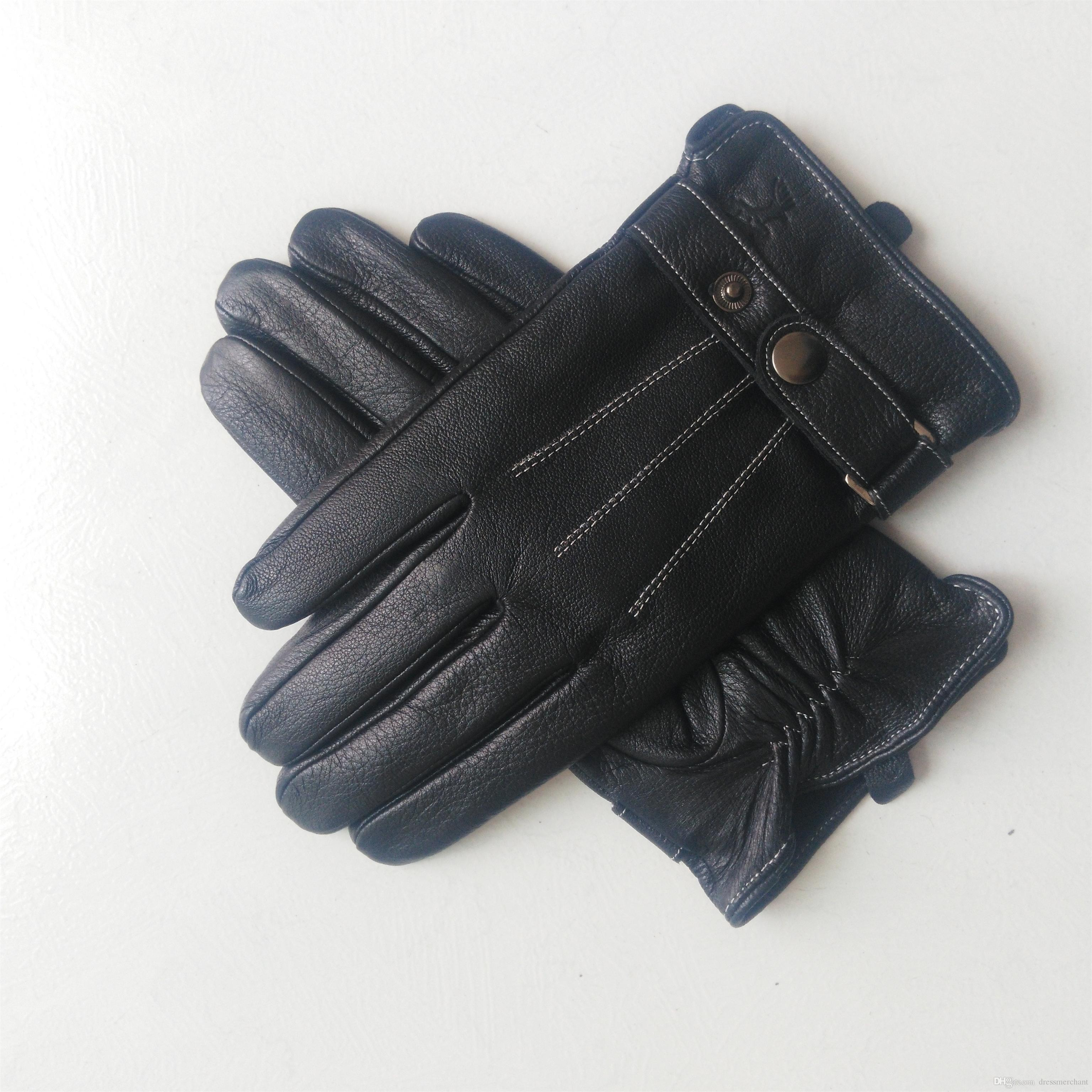Erkek deri giyim eldivenleri sonbahar ve kış sıcak koyun derisi eldivenleri moda spor eldivenleri