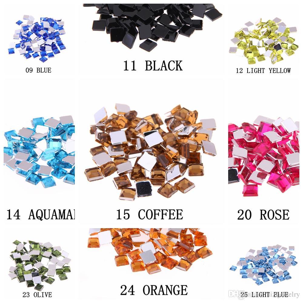 couleur aigue-marine acrylique strass FLATBACK place plusieurs tailles pour l'artisanat bricolage scrapbooking Vêtements Nail Art Décoration