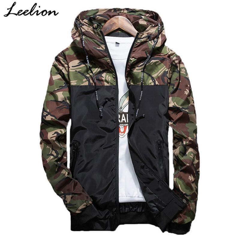 b571c20e13af Acquista LeeLion 2018 Autunno Camouflage Giacche Moda Uomo Cappotto  Cappotto Bomber Slim Fit Giacca A Vento Maschile Abbigliamento Casual Di  Marca Tuta ...