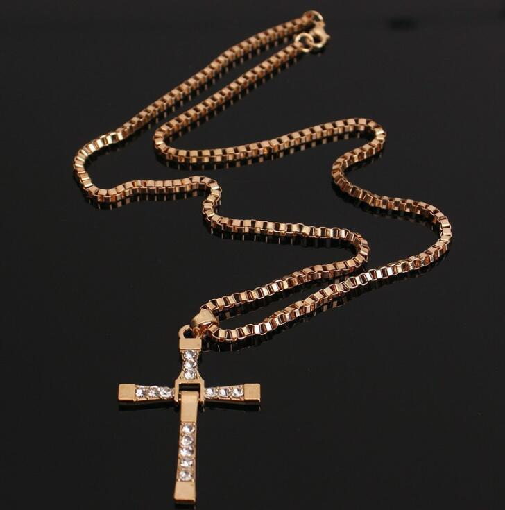 Fast and Furious actor Dominic Toretto / cross necklace pendant gift for your boyfriend crystal cross necklace for women men