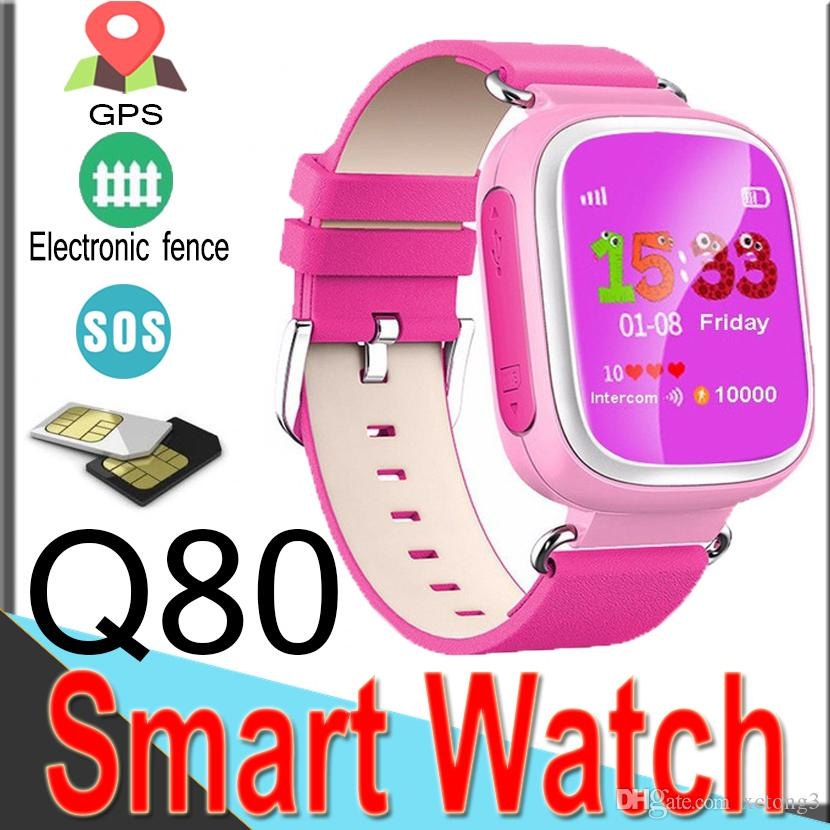 Q80 Kids GPS Tracker Safe Smart Watch Bluetooth Location SOS Call Kids Digital Watch for IOS Android Q50 Smart Watches XQ80