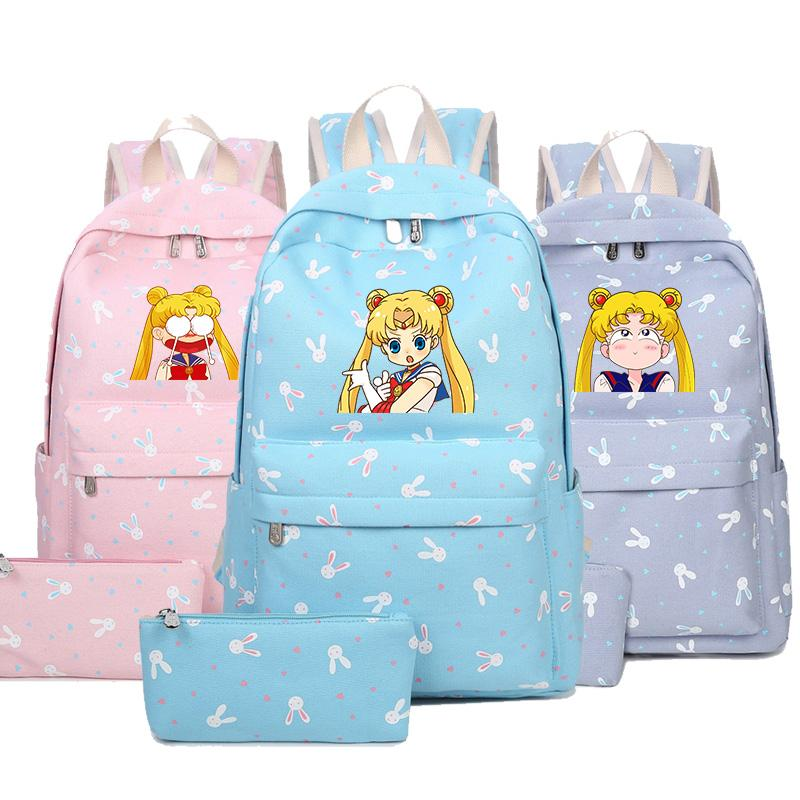 Anime Backpack SailorMoon Backpack For Teenagers Girls Children School Bags  Women School Backpacfashion Bag Hydration Backpack Womens Backpacks From ... 2b1442cd5e085