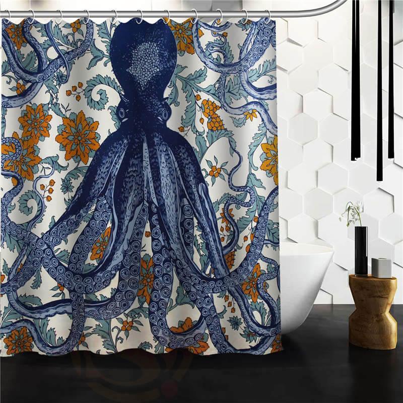 2018 Custom Octopus Shower Curtain Bathroom Products Creative
