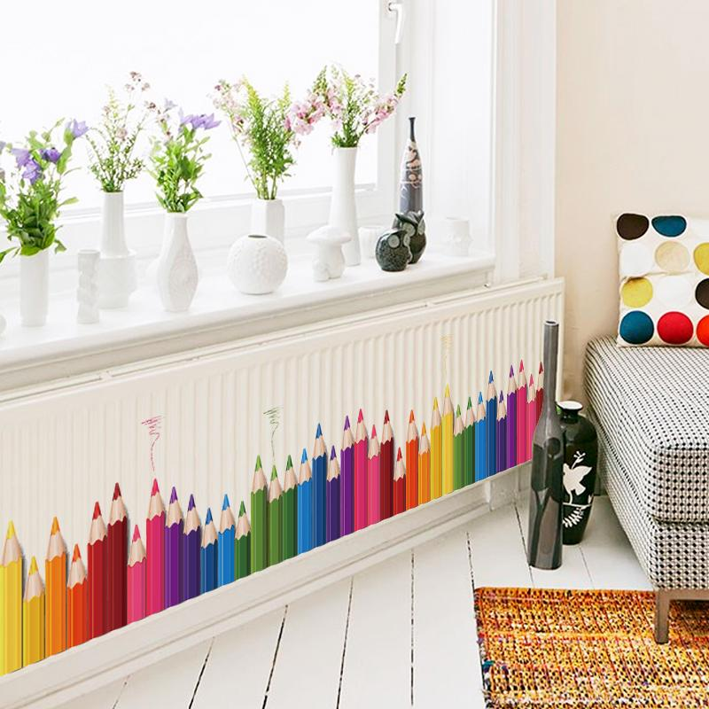 diy mural pencil back to school wall sticker removable vinyl art