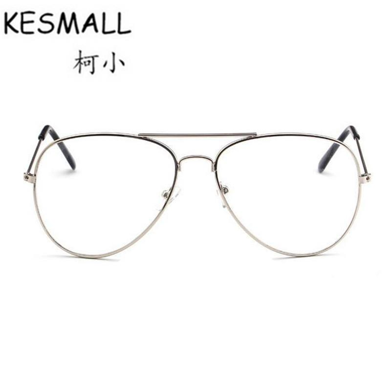 936e6d8b3549 KESMALL Summer Alloy Frame Eyewear Women Men Transparent Lens ...