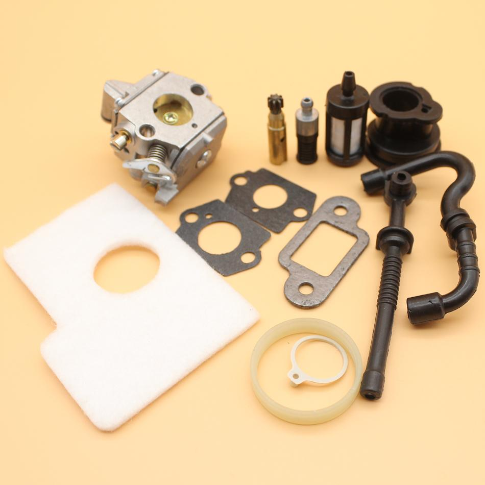 Carburetor Air Filter Intake Boot Fuel Hose Kit for STIHL MS170 MS180 MS  170 180 017 018 Chainsaw Zama C1Q-S57B