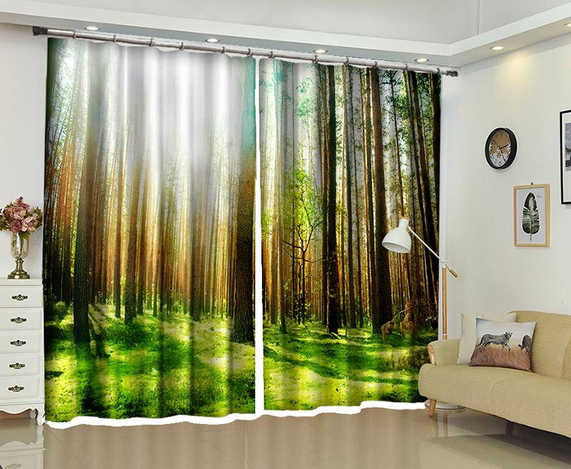 2019 New Natural Scenery 3D Blackout Curtains Healthy Non Pollution Digital Print Customizable Tablecloth Shower Curtain From Georgen