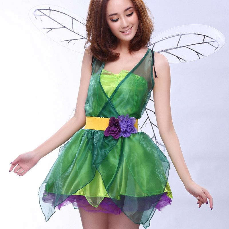 2018 Nightclub Bar Sexy Forest Green Fairy Princess Cosplay Halloween Game  Uniform Costume DS Dance Stage Dress Costume Suit 1059 Best Group Costume 3  ...