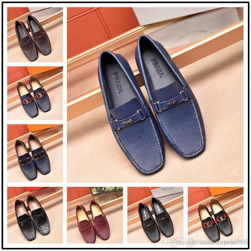 bfd30eb8d Top Men Dress Shoes Men Formal Shoes Leather Luxury Fashion Wedding Shoes  Men Business Casual Oxford Wedge Shoes Casual Shoes For Men From  Laishamaoyi005