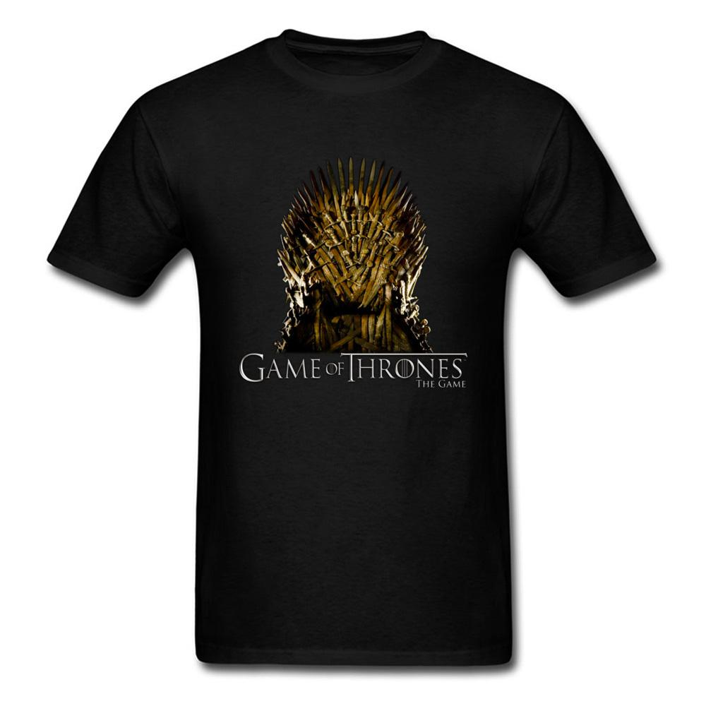 Game Of Thrones Iron Swords Chair Printed Men T Shirt 2018 Vintage Black T Shirt 3d Tv Tops Hip Hop Punk Tee Clothes