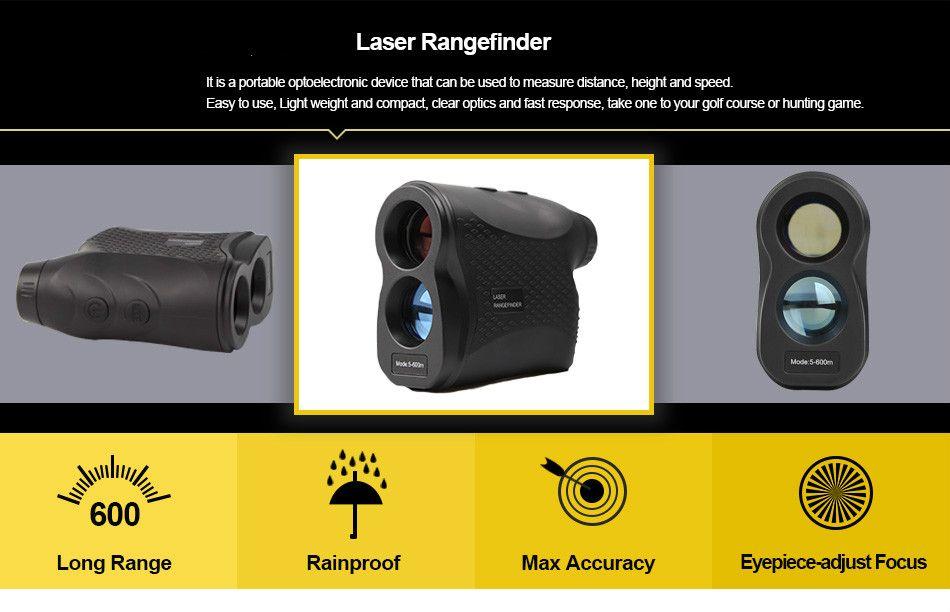 Entfernungsmesser Range 600 : Free dhl 600m telescope laser range finder waterproof distance speed