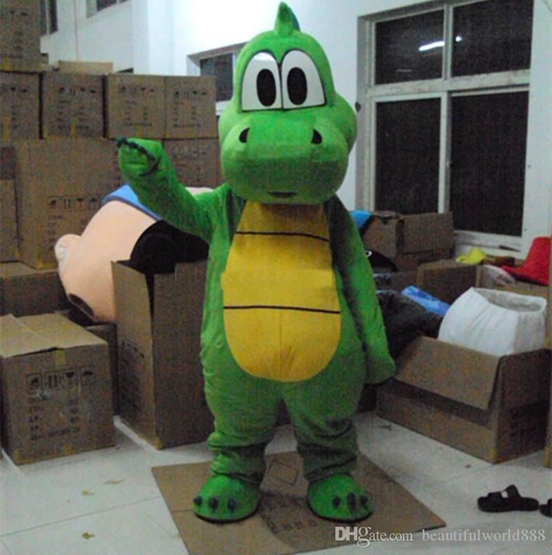 2018 High Quality Hot Yoshi Dinosaur Mascot Costume Adult Size Green Dinosaur Cartoon Costume Party Fancy Dress Kids Costumes Costumes For Kids From ... & 2018 High Quality Hot Yoshi Dinosaur Mascot Costume Adult Size Green ...