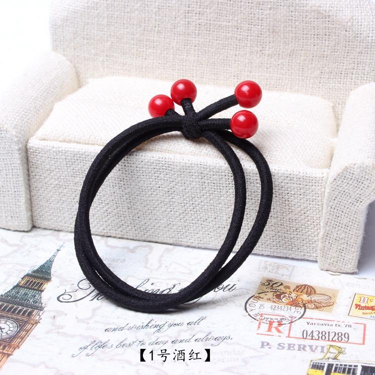 High Elastic Hair Bands Solid Pearl Stretch Hair Ties For Women Girls  Ponytail Holder Ropes Hair Accessories To Make Buns Hair Accessory To Make  A Bun From ... 4c7d3d56445