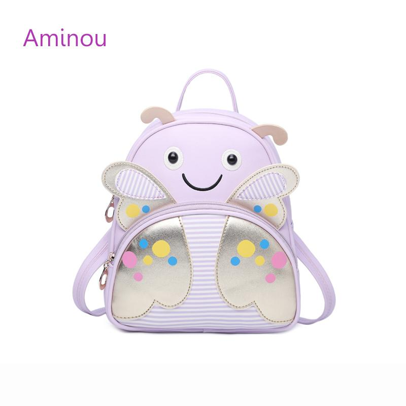 40c5372a2ae4 Aminou 2017 New Cartoon Kids Pu Leather Backpacks Bee Mini Children School  Bag For Teenager Girls Boys High Quality Bolsas Backpacks Usa Heavy Duty ...