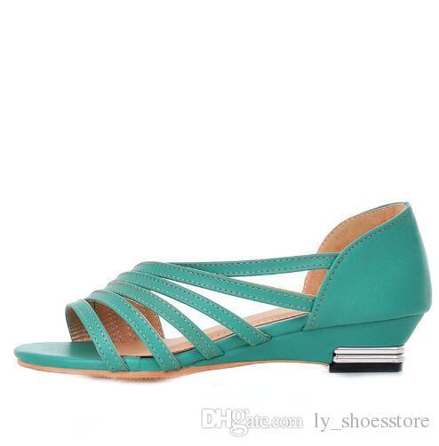 Brand Sandals Cutout New Fashion Hot Sweet Flat 2018 Women Sale UGSMVqzp