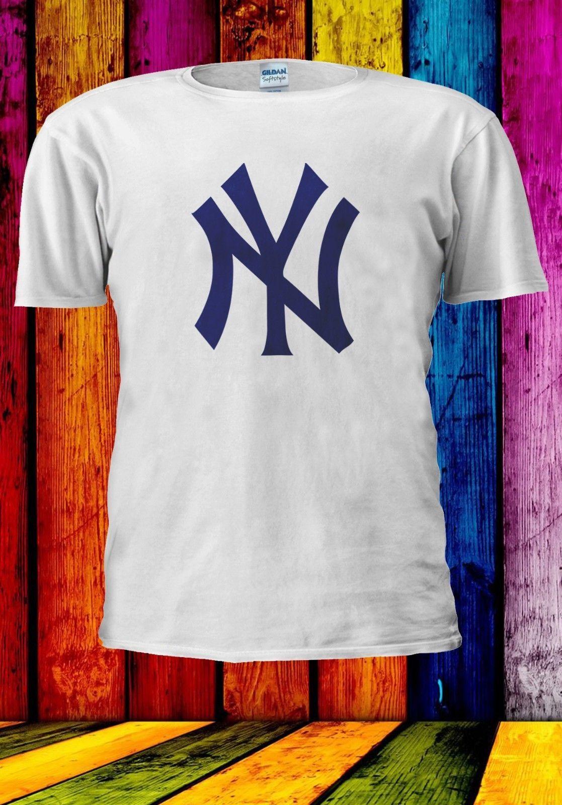 32b4c822f NY NEW YORK YANKEES MLB BASEBALL TEAM LOGO Men Women Unisex T Shirt 965  Formal Shirts Denim Shirts From Shirtainly, $11.01  DHgate.Com